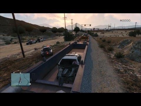 """GTA V Online - """"Самый эпичный способ ухода от копов"""""""