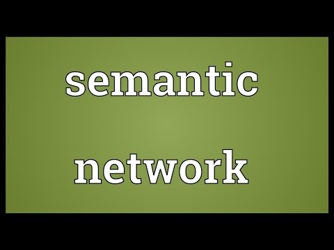Semantic network Meaning