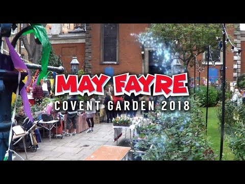 MAY FAYRE 2018 Covent Garden London Punch and Judy Show