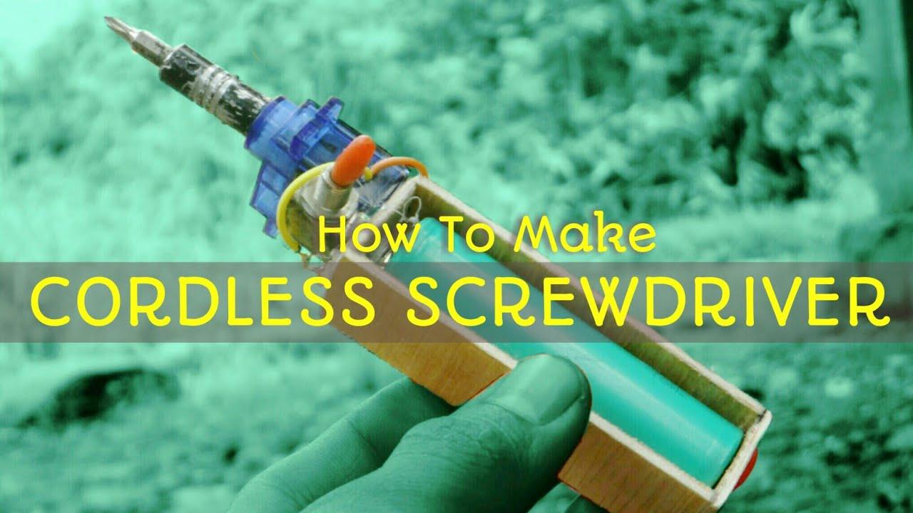 Cara Membuat Obeng Elektrik Cordless Screwdriver Youtube