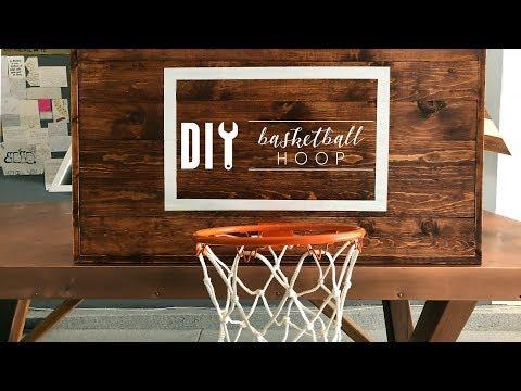 DIY Rustic Basketball Hoop