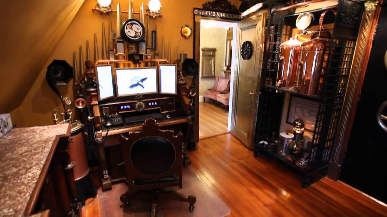 Victorian Style Office Steampunk House - YouT...