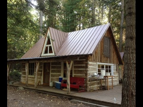 Log cabin building cabin tour youtube for Building a house in oklahoma