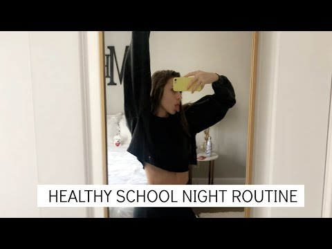 JUNIOR IN HIGHSCHOOL SCHOOL NIGHT ROUTINE | Emma MacDonald