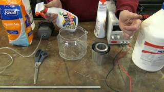 Zinc Plating Steel on the Cheap and Applying Yellow Chromate (Part 1of 2)