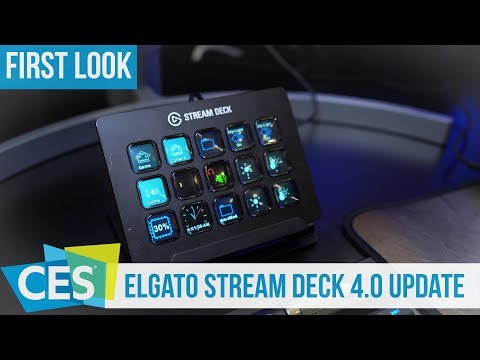 Elgato Stream Deck Update 4.0 First Look at new Features #CES2019