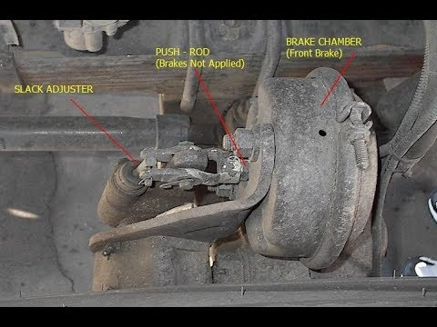 Adjust your brakes on semi truck Adjusting slack