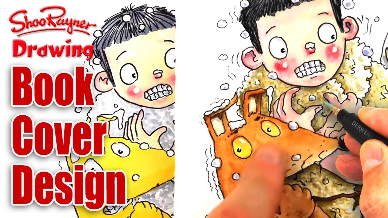 Book Cover Drawing Up ~ How to design book covers watercolour illustration youtube