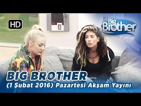 Big Brother Türkiye (1 Şubat 2016) Pazartesi Akşam Yayını - Bölüm 91
