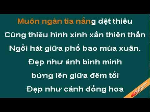 Nu Cuoi Thien Than Karaoke - May Trang - CaoCuongPro