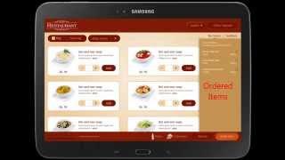 a la carte the digital menu card tablet application inq technologies pvt ltd