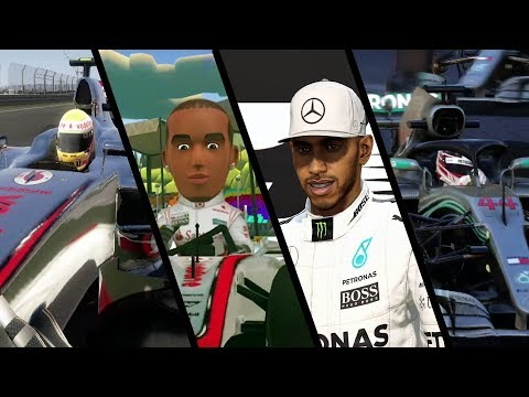 Evolution of Lewis Hamilton in F1 Games (2009 - 2018)