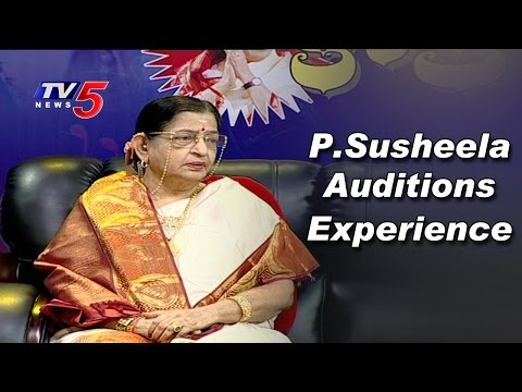 Singer P Susheela Explains her First Time Auditions Experience | TV5 News