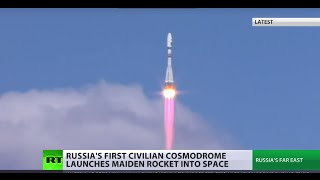 Russia's brand new Vostochny cosmodrome launches first-ever rocket