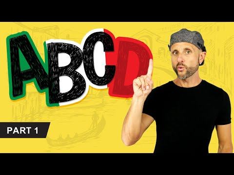 Learn the Italian Alphabet: letters and sounds (Italian Pronunciation) (1/3)