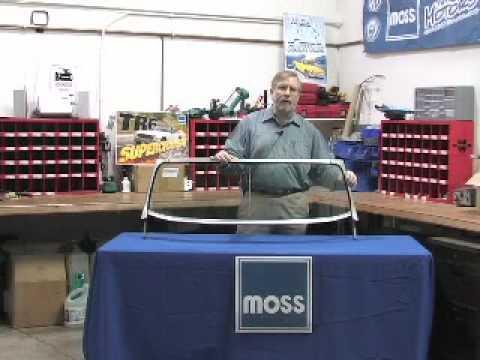 Moss Motors Mgb Triplex Windshield Youtube