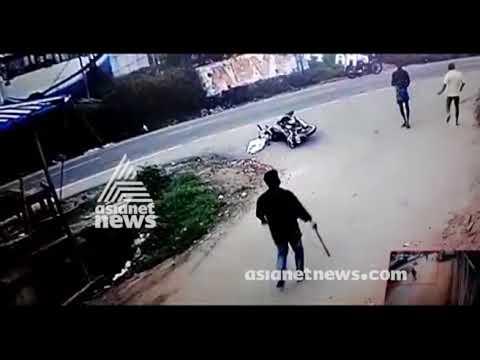Exclusive CCTV Visuals  CPM activist attacked in Kattakada