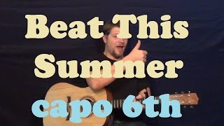 Beat This Summer (Brad Paisley) Easy Strum Guitar Lesson How to Play  Tutorial Capo 6th Mp3
