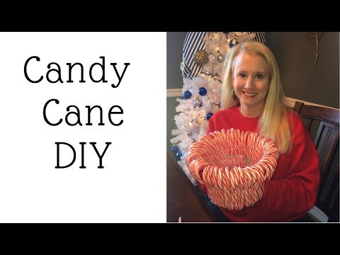 Candy Cane Vase Candle Holder Centerpiece