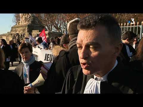 Justice Noire : à Montpellier Les Avocats Descendent Dans La Rue
