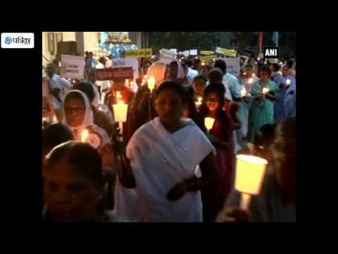 Candlelight Rosary Procession Held For World Peace