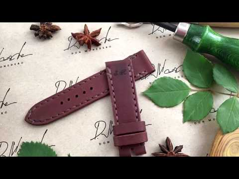 I Make A Watch Strap From Leather . Master Class / Делаю часовой ремешок из кожи. Мастер класс