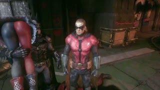 Picking up Harley Quinn in Batman: Arkham Knight