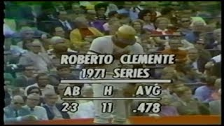 1971 World Series game 6 Pittsburgh Pirates at Baltimore Orioles Roberto Clemente PART 2