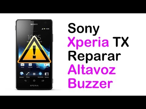 SONY XPERIA TX Reparar cambiar o arreglar Altavoz (Buzzer Replacement)