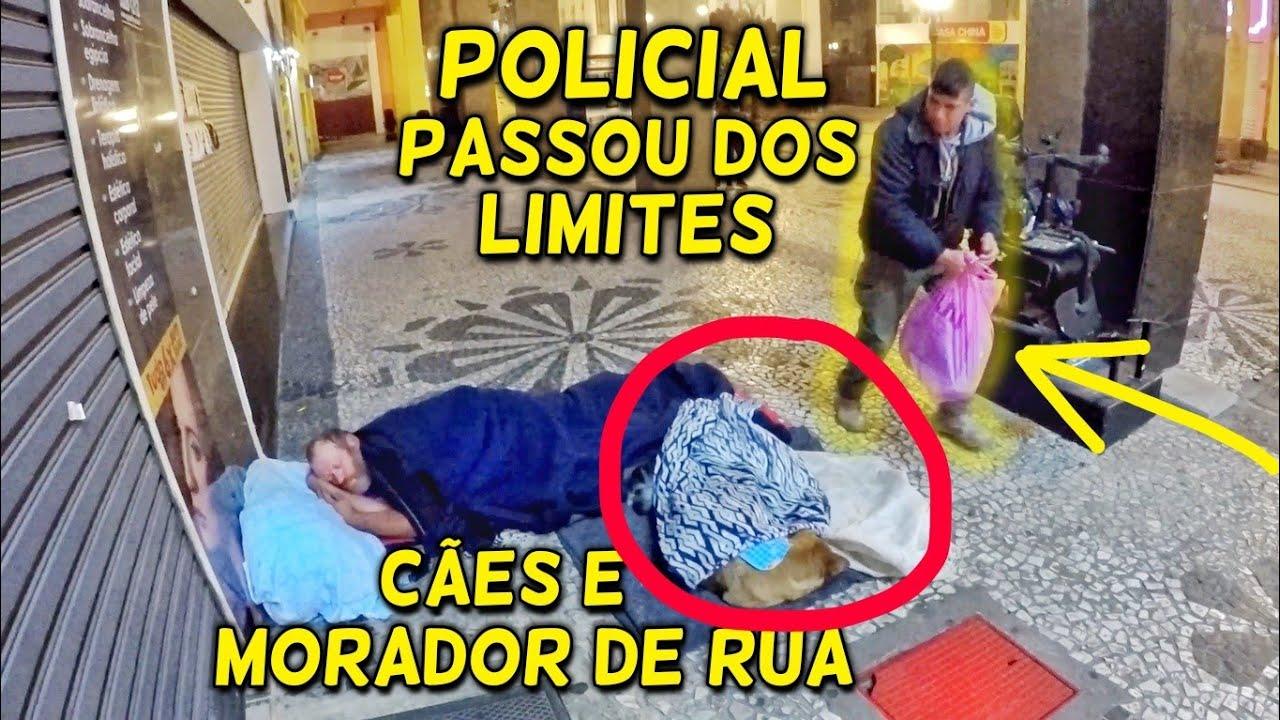 FRIO DE CONGELAR, OLHA O QUE POLICIAL FEZ COM MORADORES DE RUA