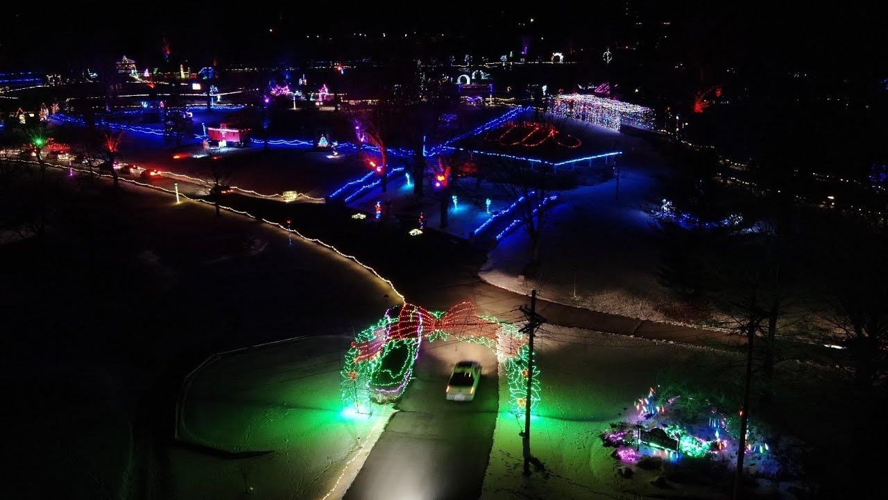 Tpa Park Christmas Lights 2021 Beautiful Flyover Video Of Tpa Park Christmas Lights Clinton County Daily News