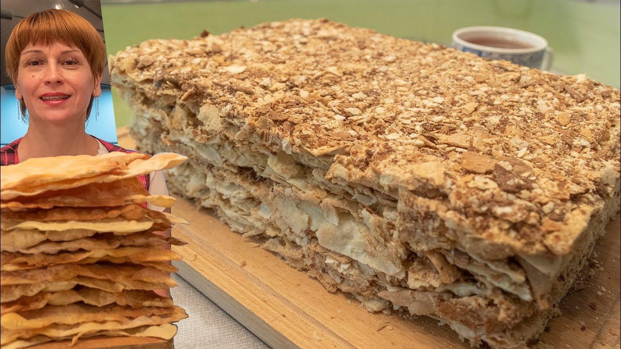 Торт наполеон со сгущенкой - простой рецепт торта на день рождения!
