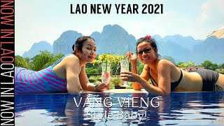 Lao New Year 2021 | Celebŗating Pi Mai Lao VANG VIENG STYLE! | Now in Lao