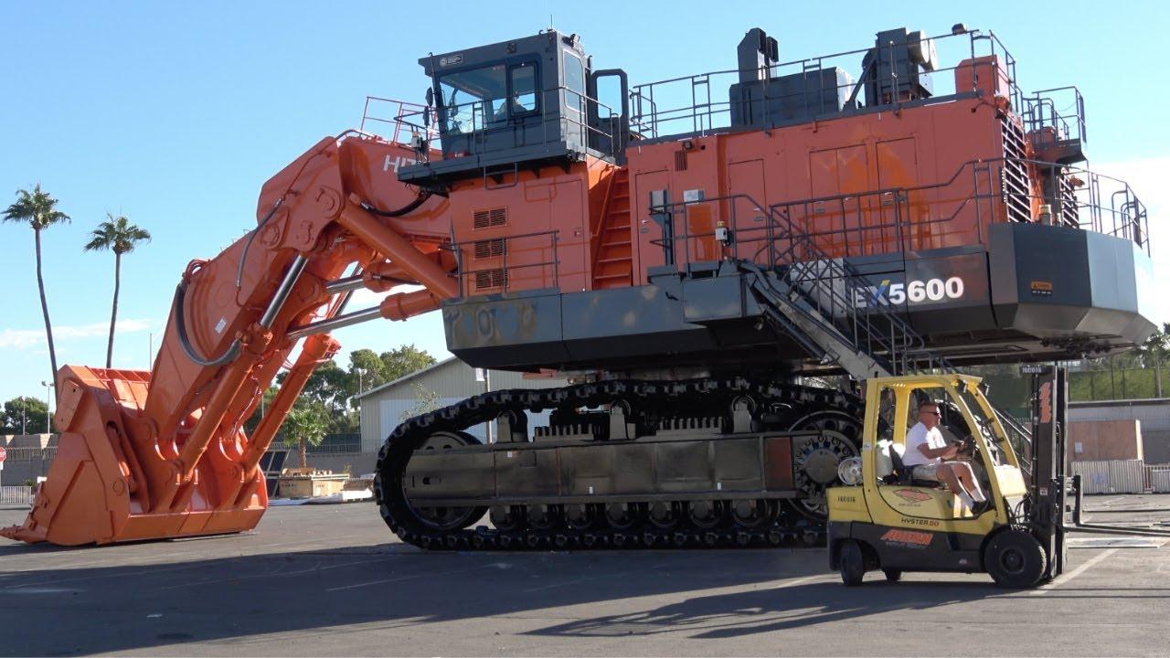 The World S Largest Machines Hitachi Ex5600 Face Shovel Youtube