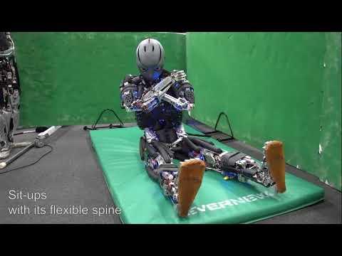 Estos robots hacen ejercicios físicos e incluso desprenden sudor
