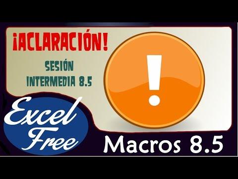 Macros 8.5. ¡ACLARACIÓN! Declaración de Variables