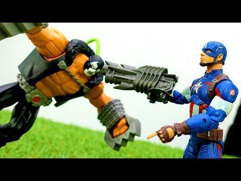 Драка СУПЕРГЕРОЕВ 👊Бэйн создал АРМИЮ солдат. Капитан Америка спасает город. Игры для мальчиков.
