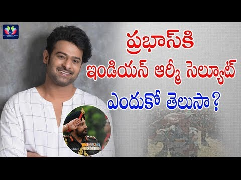 Indian Army Salutes To Rebel Star Prabhas || Celebrity Updates || TFC Film News