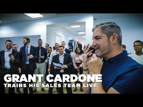 Grant Cardone Does a Live Training Session with His Sales Team