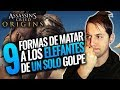 Assassin's Creed Origins | Cómo derrotar a los ELEFANTES de UN SOLO GOLPE (Parodia)