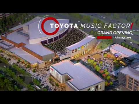 Toyota Music Factory, Texas Lottery Plaza Grand Opening