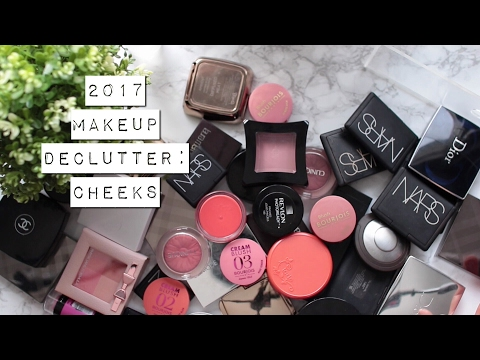 Makeup Declutter 2017 | blushes, bronzers, highlighters