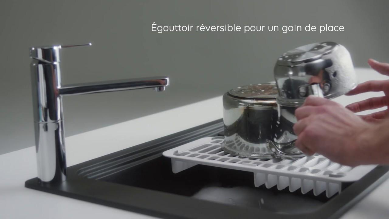 """Nettoyer Evier Resine Noir Évier quartz noir """"romesco"""" - 1 cuve - brico dépôt"""