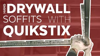 Hang Drywall Soffits | QuikStix | Armstrong Ceiling Solutions