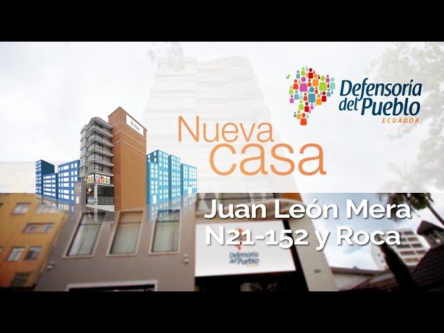 La Defensoría del Pueblo atenderá en nuevas instalaciones en Quito