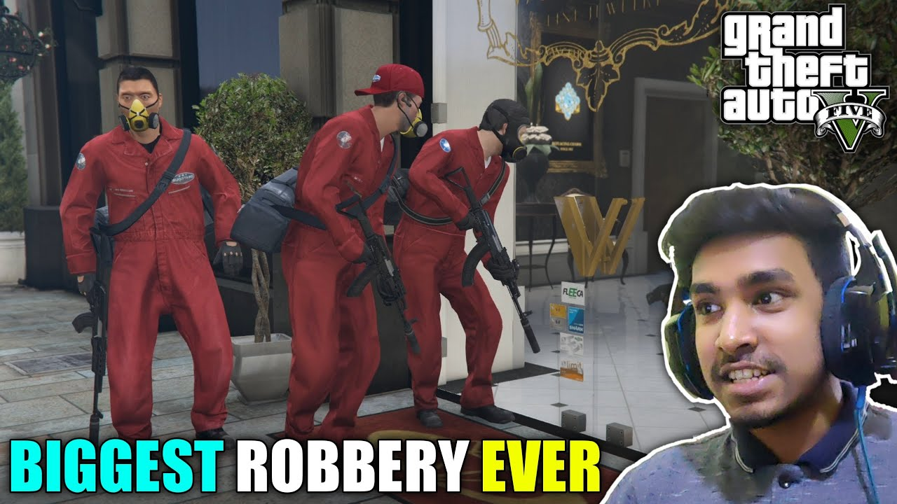 ROBBERY IN CITY'S BIGGEST JEWELLERY SHOP | GTA V GAMEPLAY #7