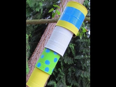How to make a Wind Chime reusing tin cans! Can Chime