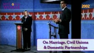Mitt Romney on Same-Sex Marriage, Civil Unions & Domestic Partnerships (2002)