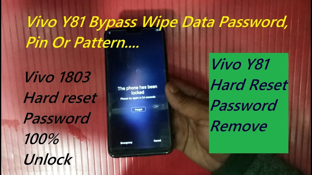 Vivo Y81 Bypass Wipe Data Password, Vivo Y81 Hrard Reset New Method 100%  Working