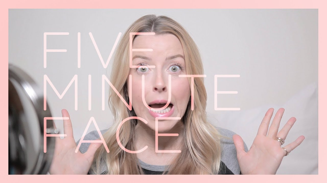 Five minute face quick and easy makeup tutorial youtube baditri Choice Image